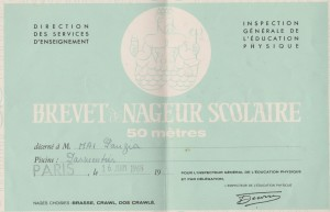 The 50-meter certificate, which I earned at the risk of my life. Which is why I have religiously kept it for all these years.