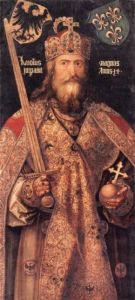 Charlemagne, whose foot is used as the standard for a foot.