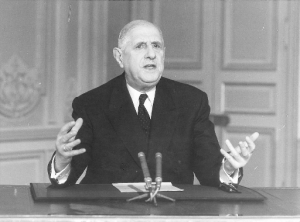Then French President, Charles de Gaulle