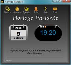 Modern Internet version of the Talking Clock, l'horloge parlante