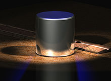 International prototype of the kilogram, made of platinum iridium alloy