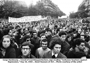protesters marching during May 1968