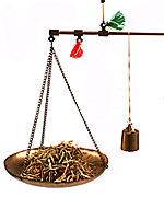 Traditional Chinese scales. For eggs, remove the plate and hang the bag of eggs directly on the horizontal bar.