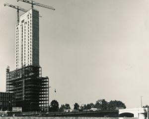 In 1969, Place de la Defense was a construction site, with barely the first tower completed.