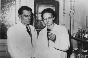 Frederic and Irene Joliot-Curie