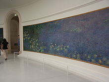 Monet's Les Nympheas, at the Musee de l'Orangerie