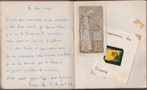 Diane Briere de l'Isle -- entry in my cahier de souvenirs