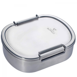 Typical stainless steel Bian Dang lunch box from the1970s