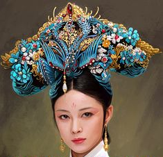Today's Chinese TV dramas set in the Qing dynasty have come a long way: compare the sumptuous and intricate headdresses!