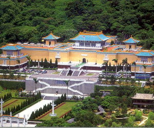 The Ancient Palace Museum, in the suburbs of Taipei, exhibits relics from past dynasties saved and carried to Taiwan during the Nationalist Forces' retreat in 1949.