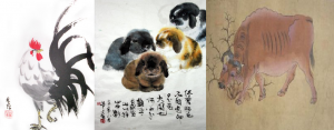 Animals, in the Chinese classical style, are alive and well, doing their own thing in a natural habitat.