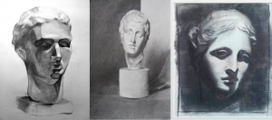 charcoal busts