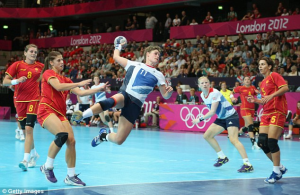 Handball is rather like soccer with the hands.