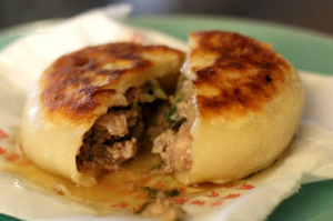 Xian-er bing, or pancakes stuffed with meat