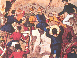 The second Opium War, 1856-60, between China and Britain.